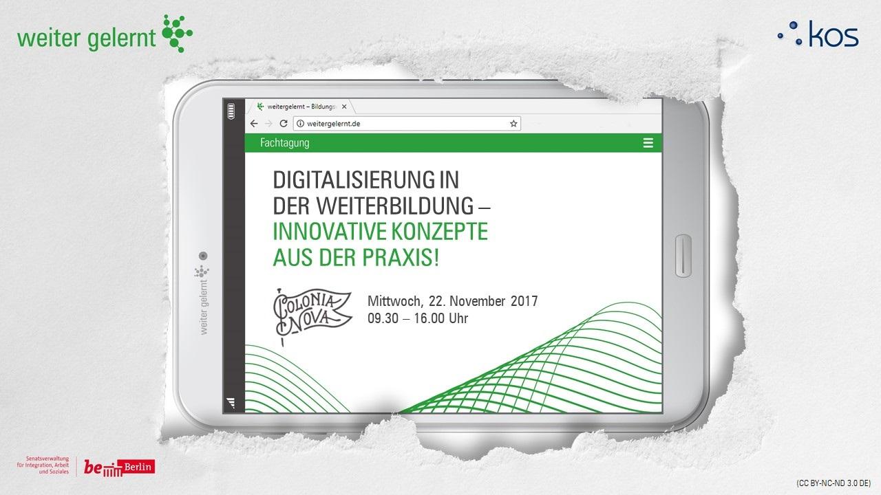 Fachtag: Digitalisierung in der Weiterbildung - Innovative Konzepte aus der Praxis!