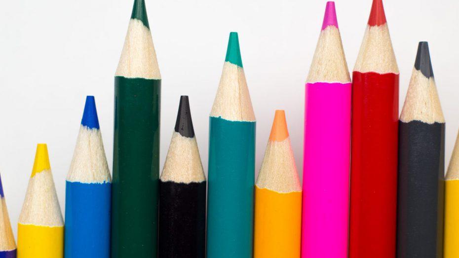 Buntstifte als Balkendiagramm